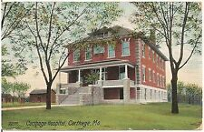 Hospital in Carthage MO Postcard 1909