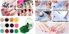 FT5585S/nail art poudre de velours lot de12 pots vernis ongles paillettes vernis