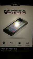 ZAGG - InvisibleSHIELD (HD)screen protector iphone 5/5S (Full Body Case)