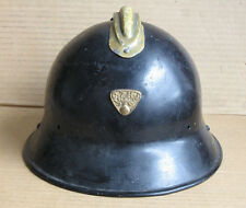 WWII CZECHOSLOVAK ARMY HELMET M29 & FIREFIGHTER BADGE / GOOD CONDITION