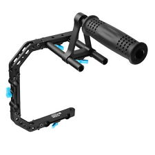 FOTGA DP3000 M2 Top Handle Grip+C-Shape Bracket Cage Sets for 15mm Rod DSLR Rig