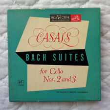 RCA Casals Bach Suites For Cello Nos. 2 & 3 (4) 45,1952,BOXSET,INSERTS,RED V's!