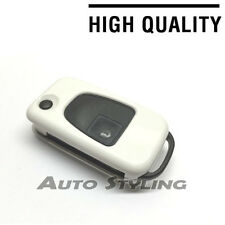 White Key Cover Case for Mercedes Benz Remote Fob 3 Button Hull Bag Flip Key 73w