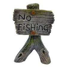 Betta No Fishing Sign Aquarium Goldfish Decoration Decor