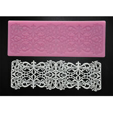 FOUR-C Cake Decorating Baking Tool Sugar Craft Fondant Mat Lace Silicone Mould