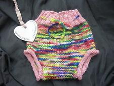 PURA Lana HAND Knitted porosi Pannolino Diaper Cover Rainbow