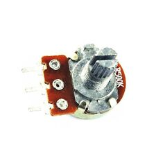 5pcs 500K Ohm B500K Knurled Shaft Linear Rotary Taper Potentiometer