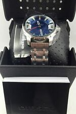 DIESEL Stronghold Men's Stainless Steel & Blue Watch DZ1723 $180 NEW!