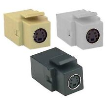 S-Video SVHS mini-din 4 Keystone Connector. Choose Black, White, or Ivory
