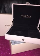 NIB Authentic Pandora Genuine Leather Pink Jewelry Box Valentines Day Gift