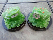 1pair Chinese Wealth Lucky Money Coin Frog Toad Green Color