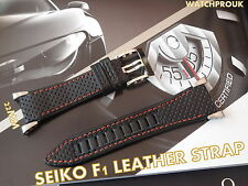 SEIKO HONDA F1 LEATHER STRAP BAND WATCHBAND  FOR SEIKO SPORTURA 4KT3JZ SPC003
