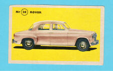 Rover Vintage 1950s Car Collector Card from Sweden
