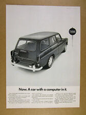 1968 VW volkswagen Squareback wagon photo 'A car with a computer in it' print Ad