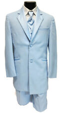 38L Mens Retro Light Blue Funky Tuxedo Jacket Halloween Costume Dance Vintage