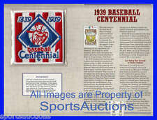1939 BASEBALL CENTENNIAL Vintage 100 Yr Anniversary COOPERSTOWN COLLECTION PATCH