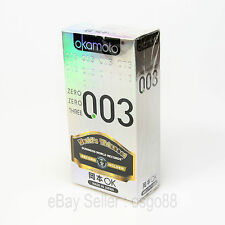 10p Okamoto 003 0.03mm Platinum condom Super Ultra THIN condoms