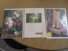2 x birthday cards and 1 x best wishes card