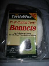 "2 PACK TURTLE WAX 7""-8"" COTTON TERRY BONNETS BUFFING POLISHING CAR NEW-OTHER"