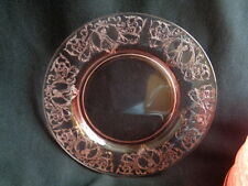 CENTRAL GLASS WORKS- PINK GLASS-MORGAN   ROUND SALAD PLATE(S)
