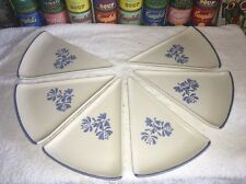 (6) NWT Pfaltzgraff YORKTOWNE Triangular Pie Pizza Slice Plates