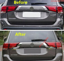2PCS Car Refit Rear Door Trunk Lid Cover Trim For Mitsubishi Outlander 2016