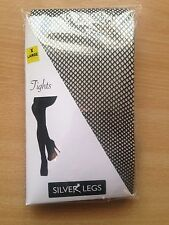 EXTRA LARGE BLACK FISHNET TIGHTS TO 54 INCH HIPS