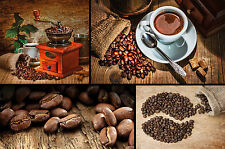Coffee photo wallpaper coffee collage mural wallpaper XXL wall decoration