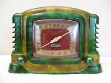 VINTAGE 40s TRUETONE ANTIQUE MID CENTURY BAKELITE RADIO SWIRLED CATALIN COLORS