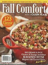 Fall Comfort food magazine Cajun fair Red beans and rice Blackened catfish