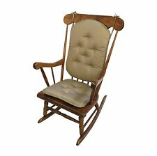 2pc Delight Fill Rocking Chair Cushion Set Twill Cotton Non-Skid Bottom BrownSad