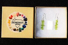 CHARGED Peridot Crystal Chip Earrings REIKI Energy! ZENERGY GEMS™