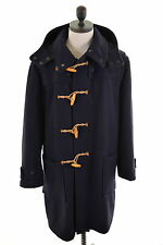 Paul Smith Mens Duffle Coat Size 44 XL Navy Blue Wool