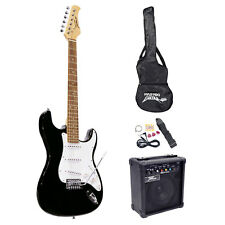 PYLE PRO BEGINNER ELECTRIC ELECTRONIC GUITAR STARTER KIT 10-WATT AMP AMPLIFIER