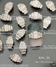 10pcs Bling Bling Nail Art Deco Alloy Jewelry Glitter Rhinestones Pearl #Ah_35