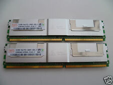 HYNIX 1GB KIT (2x 512MB) DDR2 DESKTOP RAM MEMORY - HYMP564F72CP8D3-Y5 PC2-5300F