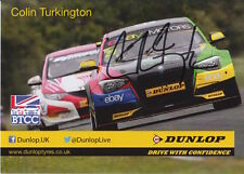 Colin Turkington Hand Signed Touring Cars Promo Card BMW.