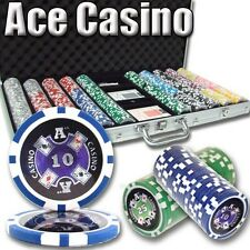 New 750 Ace Casino 14g Clay Poker Chips Set with Aluminum Case - Pick Chips!