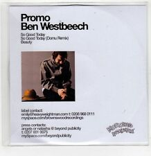 (GI226) Ben Westbeech, So Good Today - 2006 DJ CD