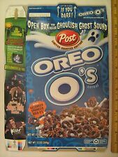 POST Cereal Box 2000 OREO O's Haunted Edition GHOST SOUND Adams Family [G7e4]
