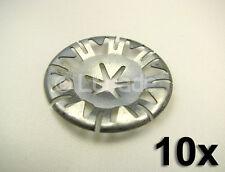 10x Metallscheiben Klemmscheiben Audi VW Clips Motorabdeckung Unterboden NEU