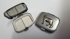 Burmese Cat PP-C04 English Pewter Emblem on a Rectangular Travel Metal Pill Box