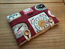 Kindle Paperwhite Padded Case Handmade With Cath Kidston Clocks Fabric