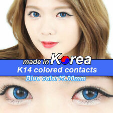 BLUE eye color contacts lenses Crazy Halloween Cosmetic Makeup Cosplay - K14I