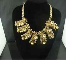 Fashion Vintage Crystal Statement Collar Necklace 18K Gold Plate/Tone