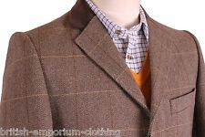 THOMAS PINK Brown Herringbone KEOUGH 2 Fly Overcoat Coat BNWT Uk38