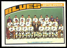 1976 77 OPC O PEE CHEE HOCKEY 146 ST LOUIS BLUES TEAM NM UNMARKED CHECKLIST CARD