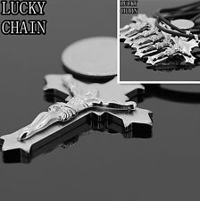 "6PCS WHOLESALE LOTS STAINLESS STEEL CROSS PENDANT+FREE CHAIN(18""+2"")156g/WS23"