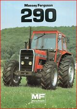 French Original  Prospect  Tracteur Tractor Massey Ferguson MF 290 _  2 Pages