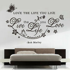 Removable Quote Words Art Wall Sticker Vinyl Decal Home Room Decor Mural Black